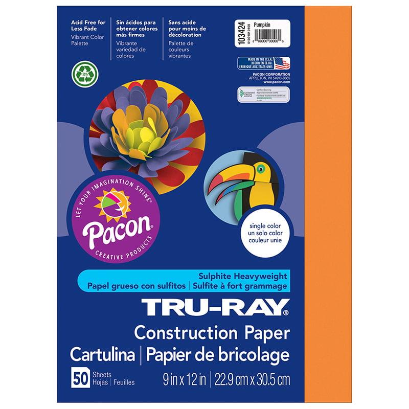 (5 Pk) Tru Ray 9X12 Pumpkin - image 1 de 1