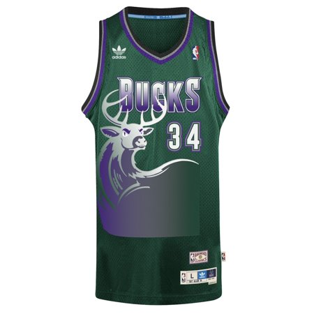 Ray Allen Milwaukee Bucks Adidas NBA Throwback Swingman Jersey Green by