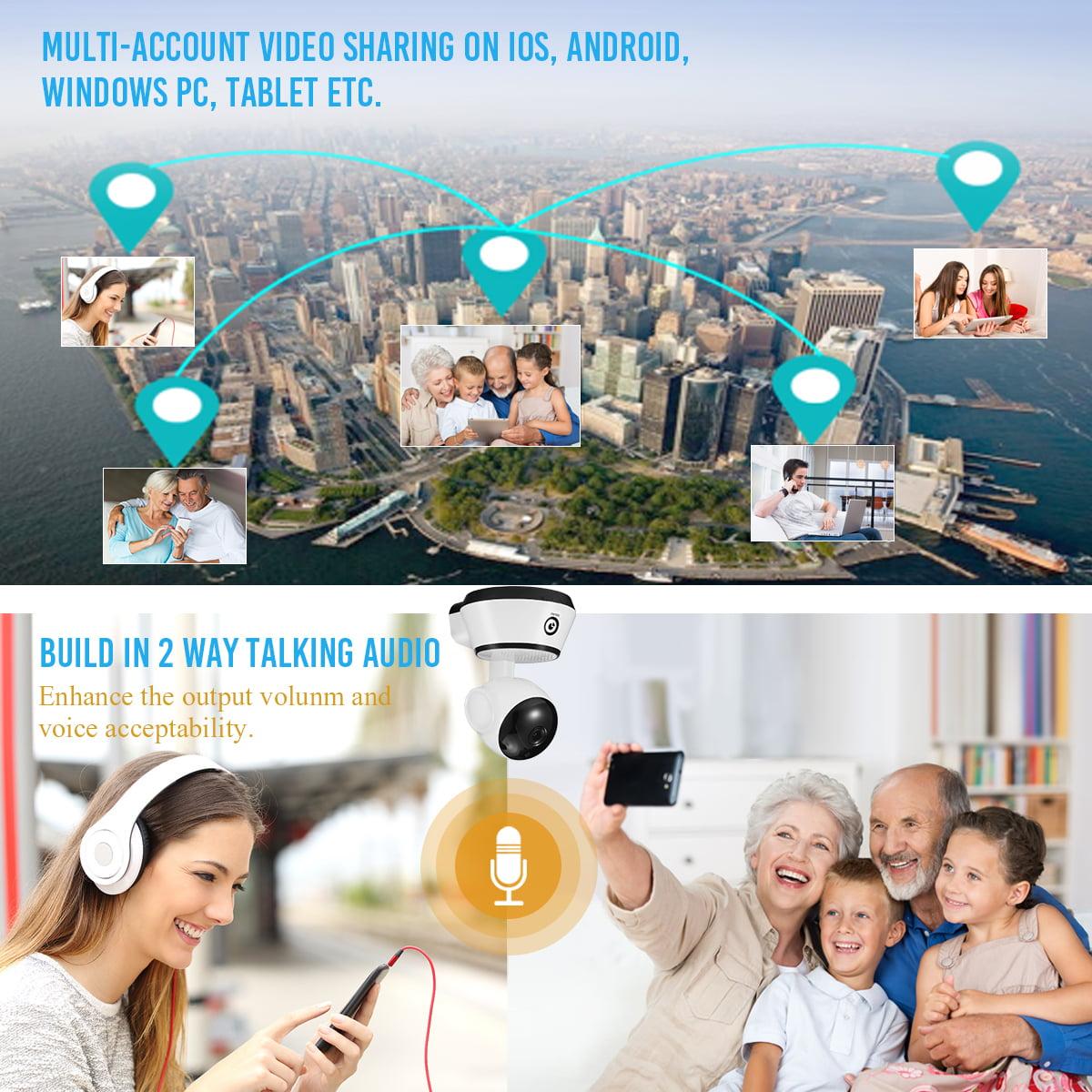 Digoo WiFi Baby Monitor IP Camera Night Vision Support Onvif,APP