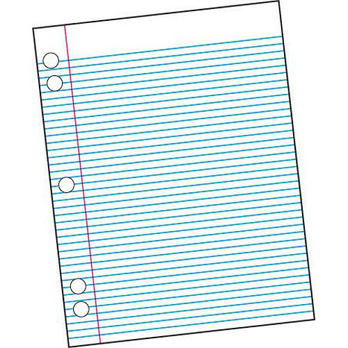 """School Smart 5-Hole Punched Filler Paper with Margin, 8.5"""" x 11"""", White, 500-Pack"""