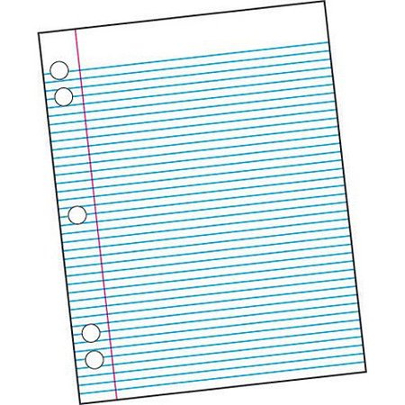 "School Smart 5-Hole Punched Filler Paper with Margin, 8.5"" x 11"", White, 500-Pack"