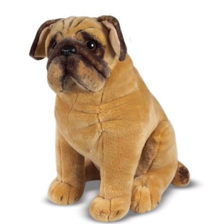 Black Pug Stuffed Animal (Melissa & Doug Pug Dog,  Lifelike Stuffed)