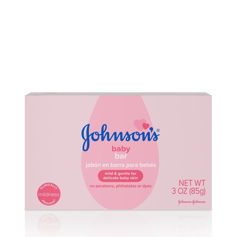 Johnson's Baby Soap Bar Gentle for Baby Bath and Skin Care, 3 oz