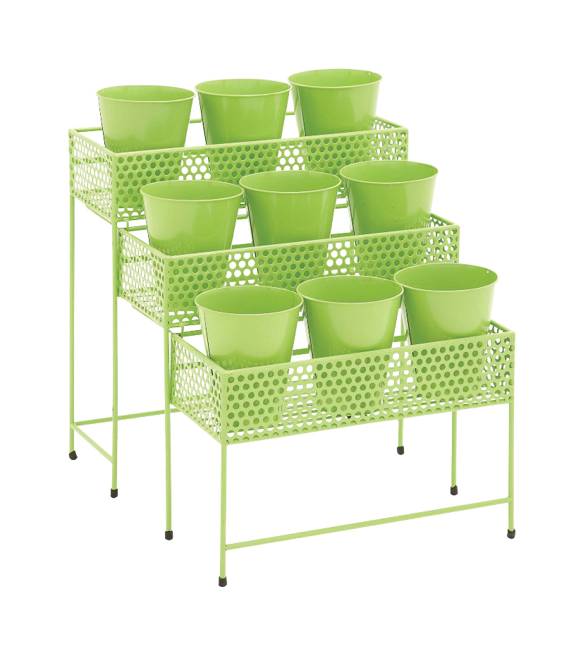 Unique Style The Simple Metal 3 Tier Plant Stand Green Home Decor 28932