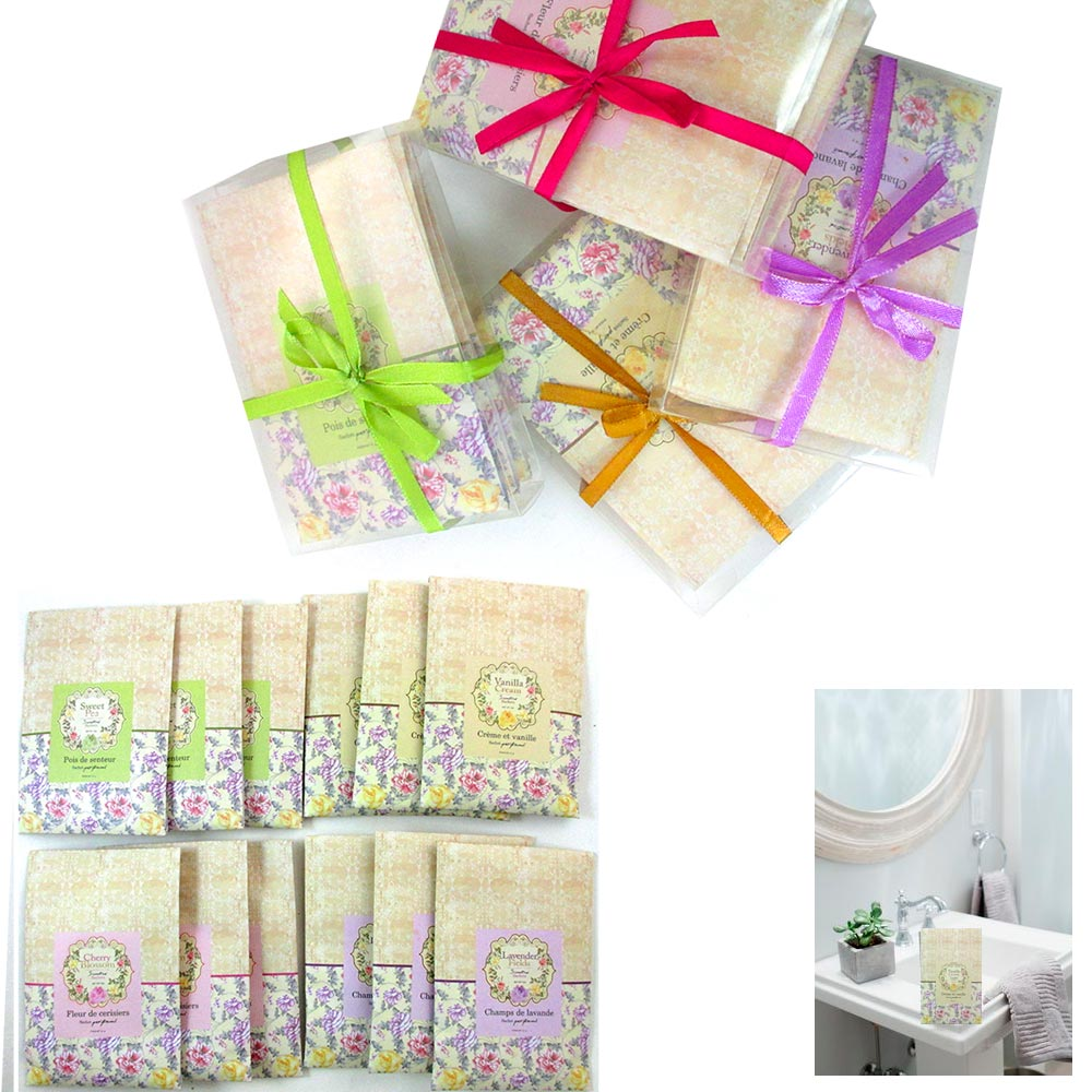 12 Scented Fragrance Sachet Bags Home Wardrobe Drawer Car Perfume Envelope Pouch