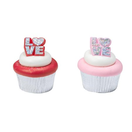 Valentine Assortment Stacked Cupcake Rings 12 Count](Valentine Cupcake)