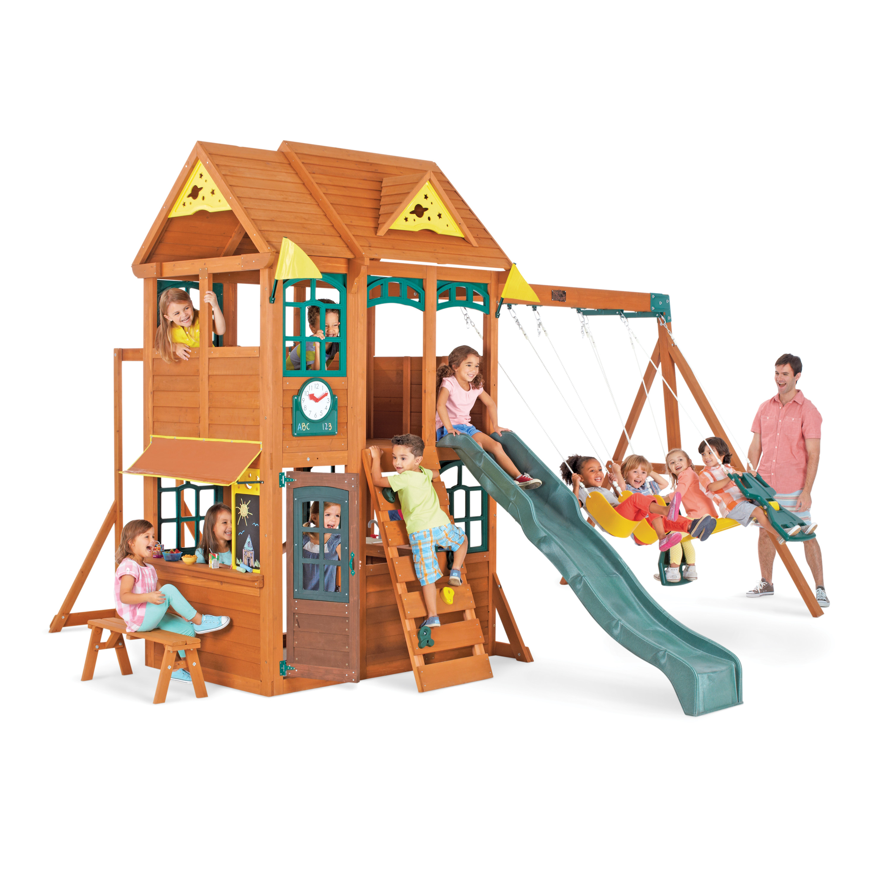 Big Backyard Meadowbrook Outdoor Wooden Playset by KidKraft - Walmart.com