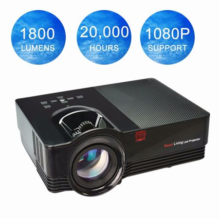 Portable VS67 VGA/USB/TF/AV/HDMI Mini LED Projector Full 1080P HD Home Theater Cinema Video Projector with Video Cable