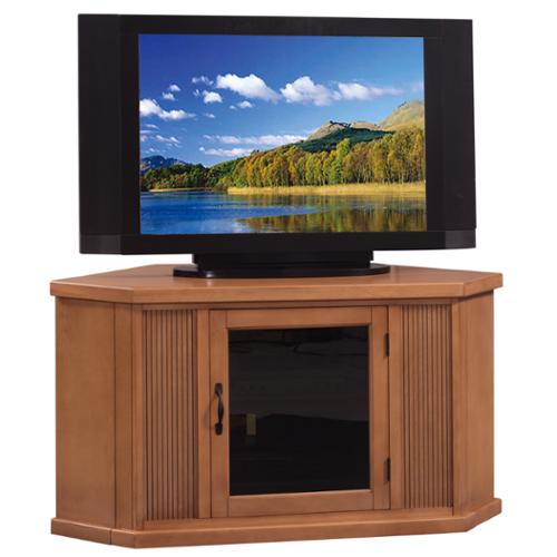 KD Furnishings Glazed Buckskin 46-inch Corner TV Stand