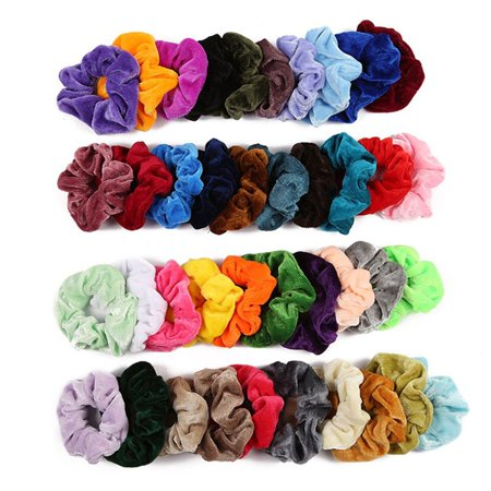 Fleece Hair Ring Multi-Color Optional Gold Velvet Hair Ring Hair Accessories Professional Fashion Portable - image 3 of 10