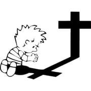 Western Recreation Praying @ Cross Decal 5X5