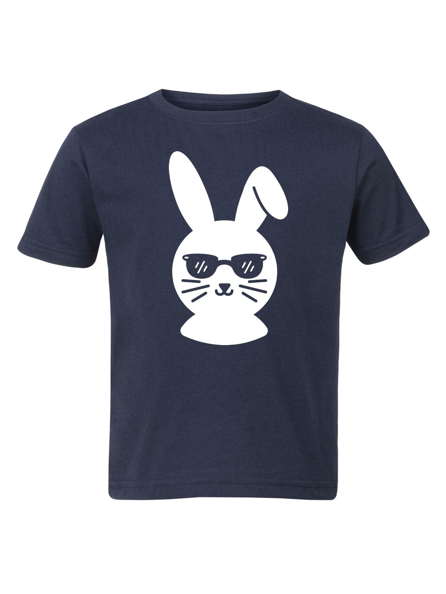 Boy Bunny Head-Toddler Short Sleeve Tee