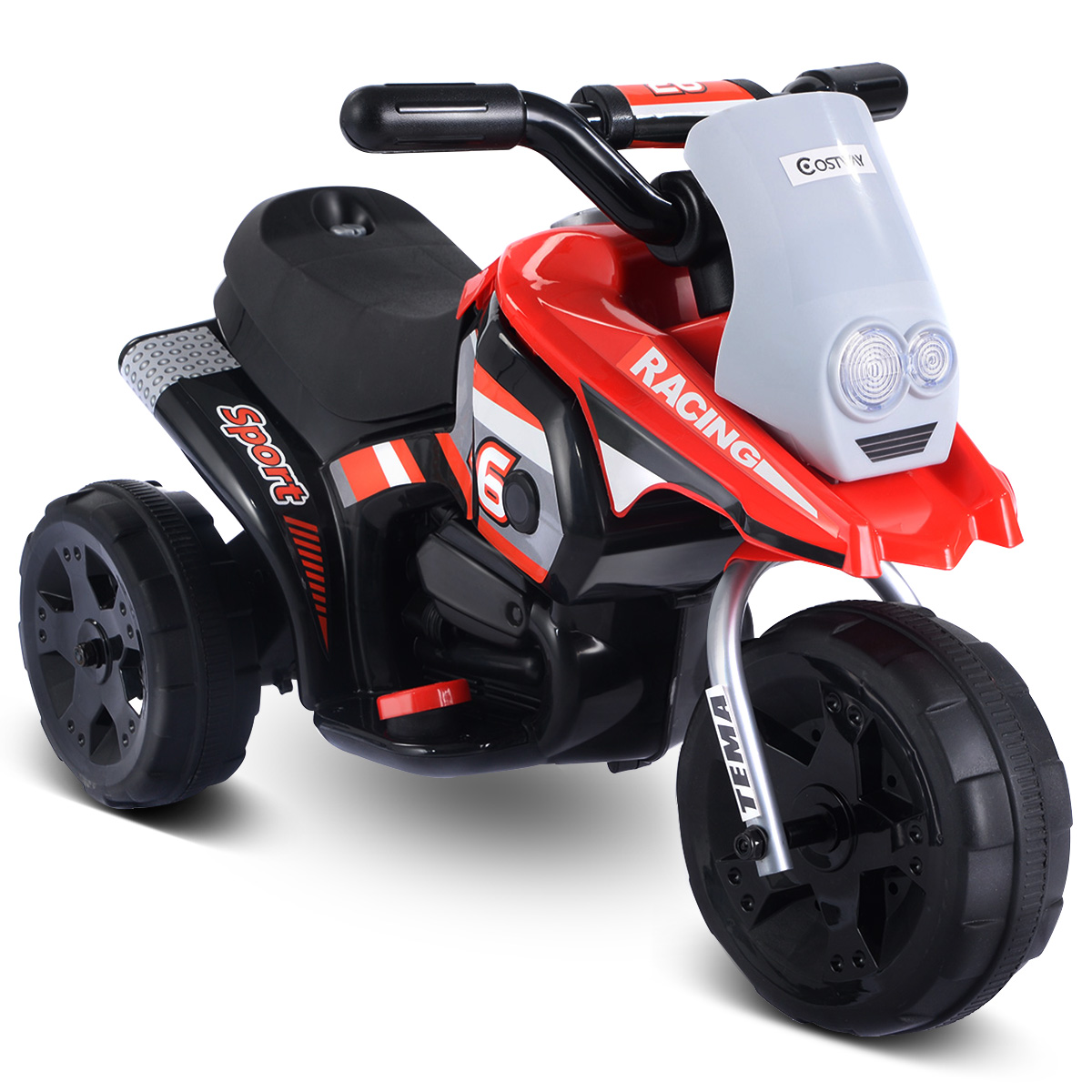 Costway 6v Kids Ride On Motorcycle Battery Powered 3 Wheel Bicyle
