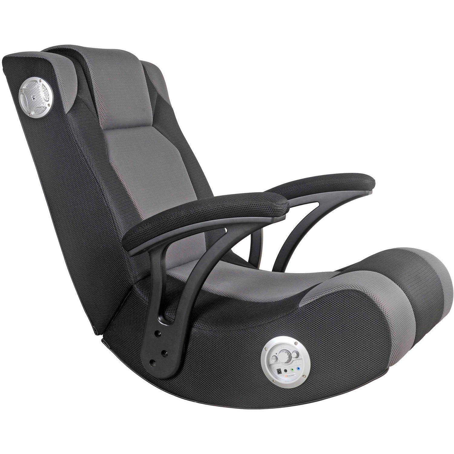 Great X Video Rocker Impact Mesh Sound Gaming Chair, Black, 51056   Walmart.com