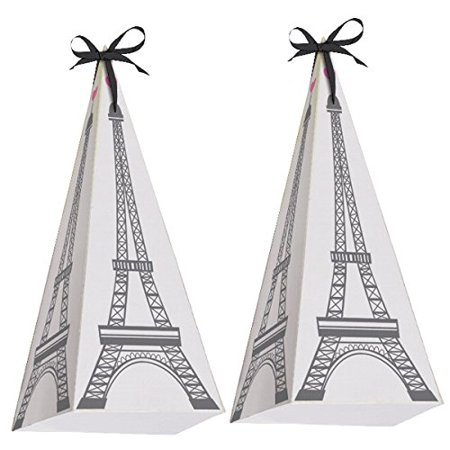 Happy Birthday 'Party in Paris' Eiffel Tower Favor Boxes (8ct), Paper By Creative Converting](Paris Themed Party Favors)