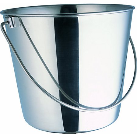 Indipets Heavy Duty Stainless Steel Dog Pail 9 QT 6 Quart Stainless Pail