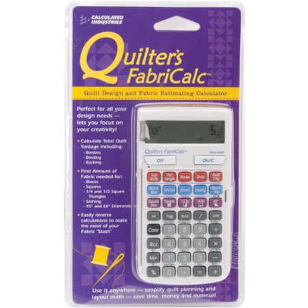 Calculated Industries Quilter's FabriCalc Quilt Design and Fabric Estimating Calculator - image 1 of 1