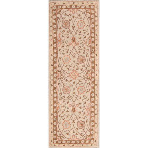 Bloomsbury Market Hackbarth Oushak Indian Oriental Hand-Tufted Wool Beige/Brown Area Rug
