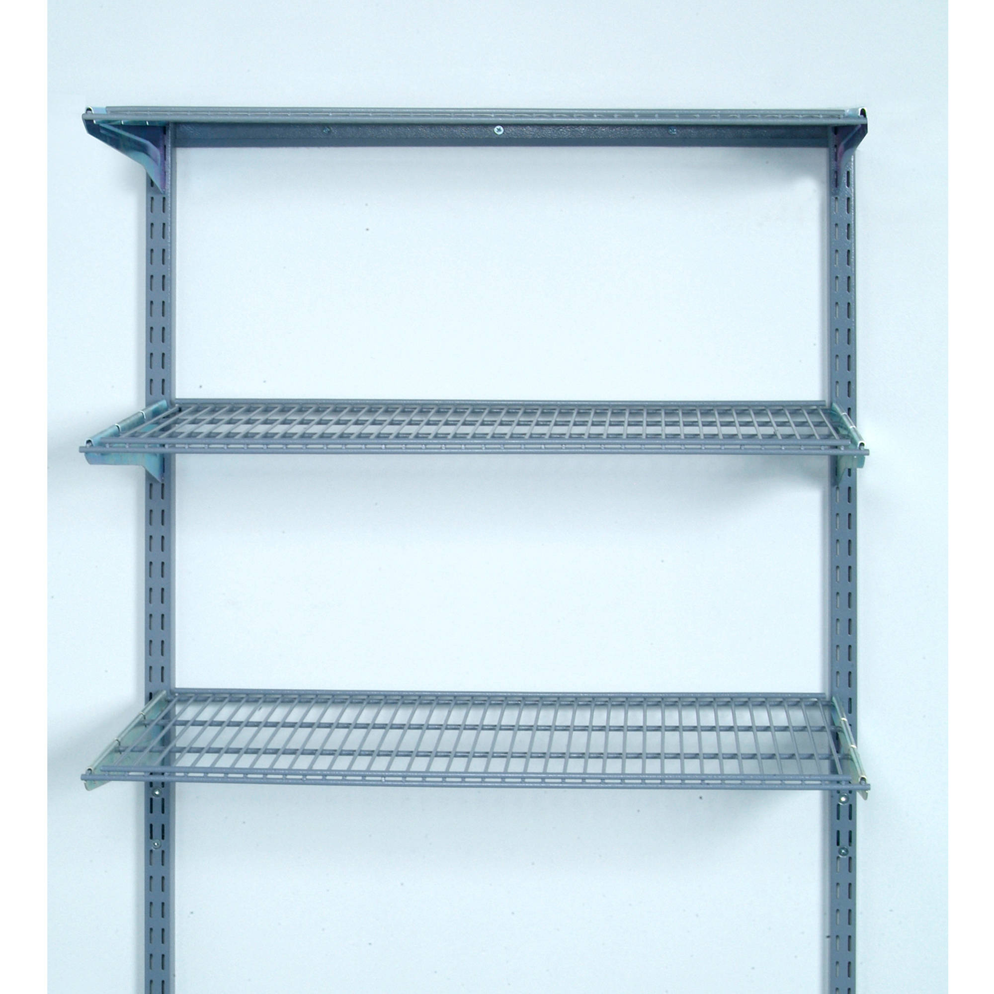 """Storability 33""""L x 31.5""""H Wall Mount Shelving Unit with 3 Steel Wire Shelves & Mounting Hardware"""