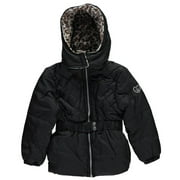 Pink Platinum Girls' Belted Quilted Puff