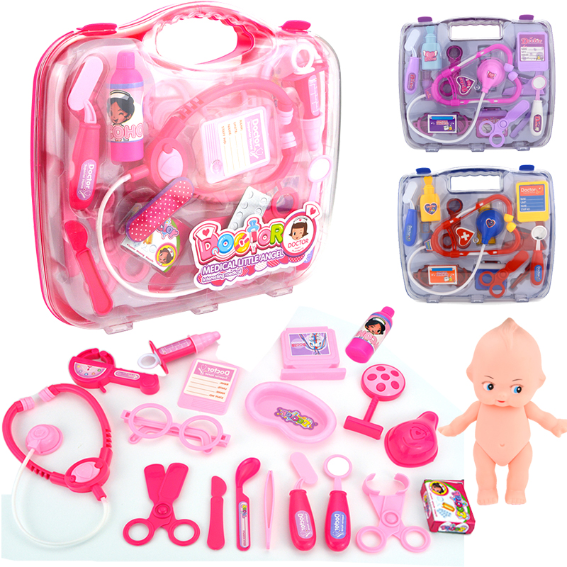 19PCS Play Doctor Pretend Medical Set Case Educational Role Play Gift For Kids