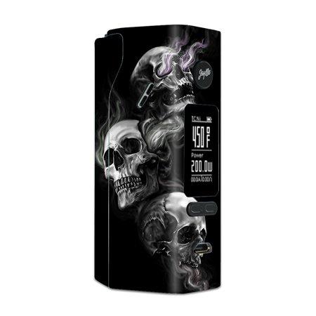 Skin Decal For Wismec Reuleaux Rx 2/3 Vape Mod Stickers / Glowing Skulls In