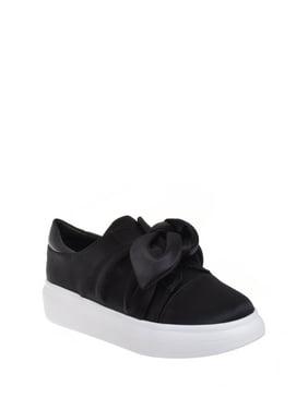 Shellys London Casual Satin Platform Sneaker - Black