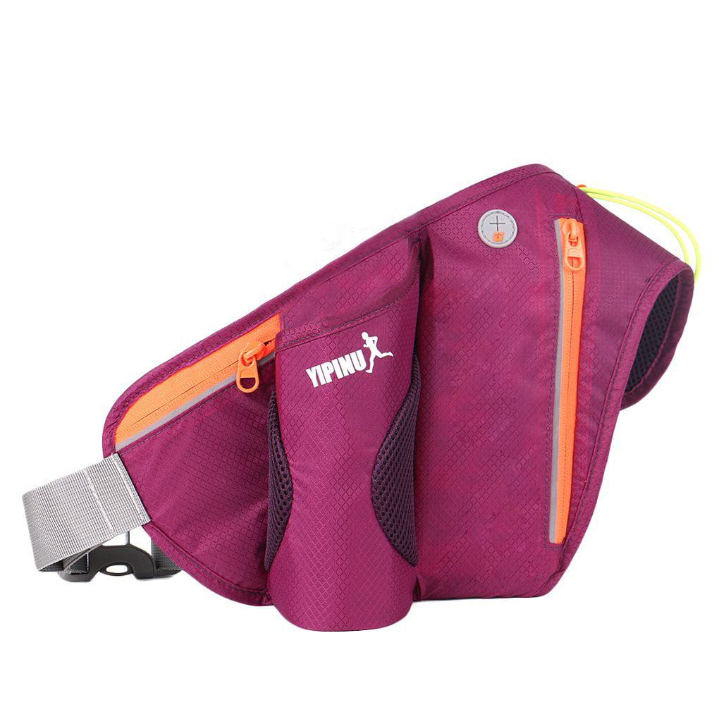 Sport Waist Belt Bag Running Hiking Zip Fanny Pack Phone Pouch Reflective Stripe