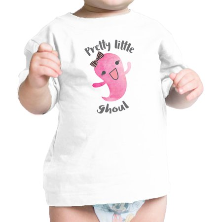 Pretty Little Ghoul Baby Girl Halloween Tshirt White Infant T-Shirt](Really Pretty Teenage Girls)