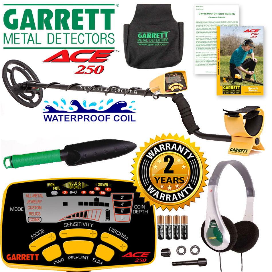 Garrett ACE 250 Metal Detector Treasure Seeker Package