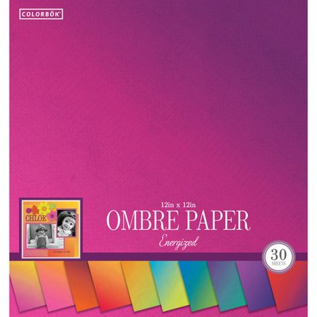 """Colorbok 12"""" Paper Pad, Ombre Energized"""