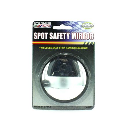 Bulk Buys CA086-48 Glass ang Plastic Spot Safety Mirror - Pack of 48 Buy Mirrored Glass