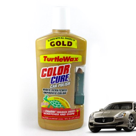 Turtle Wax Color Cure Car Polish Chipstik Gold Scratch Seal Detail 16 Oz New
