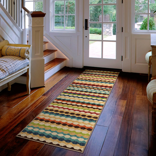 Orian Rugs Indoor/Outdoor Nik Nak Multi-Colored Area Rug or Runner
