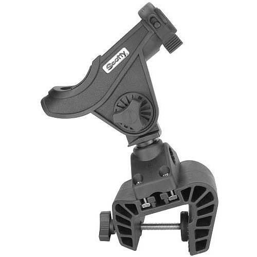 Click here to buy Scotty Baitcaster Rod Holder with #449 Clamp Mount, Black by Scotty.