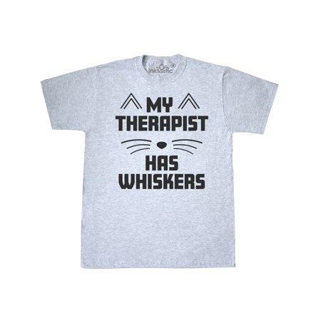 My Therapist Has Whiskers with Cat Nose and Ears T-Shirt](Cat Ears And Whiskers)