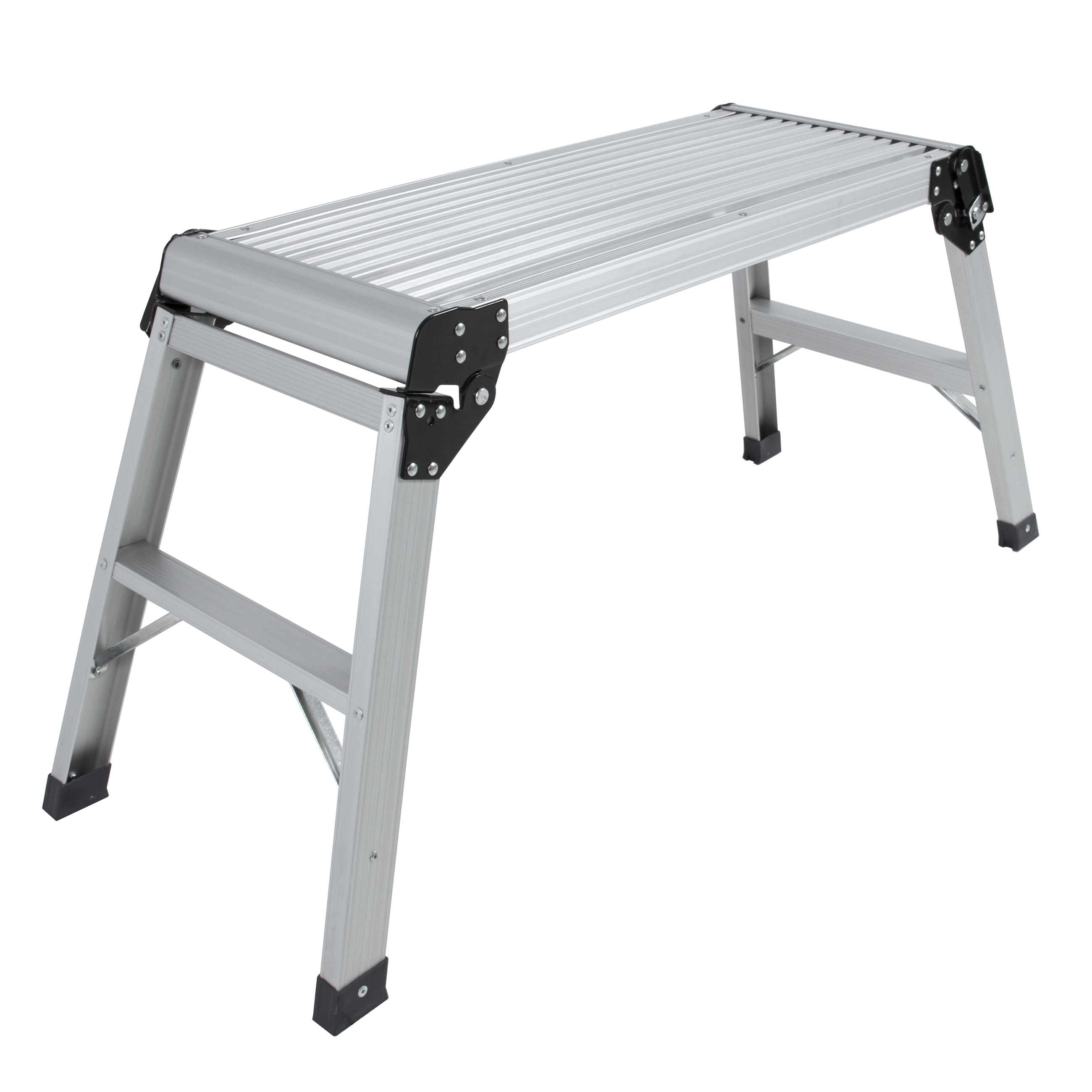 BCP Certified EN131 Aluminum Platform Drywall Step Up Folding Work Bench Stool Ladder - Walmart.com  sc 1 st  Walmart & BCP Certified EN131 Aluminum Platform Drywall Step Up Folding Work ... islam-shia.org