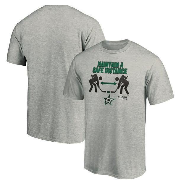Fanatics Dallas Stars Fanatics Branded 2020 Stanley Cup Playoffs Bound Safe Distance T Shirt Heather Gray Walmart Com Walmart Com