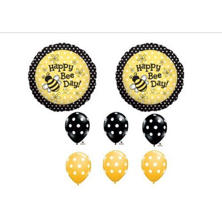 Happy Day Bouquet (1 X Happy Bee-Day Birthday Buzz Bumble Bee Bouquet Balloon Set Party Decoration by Anagram )