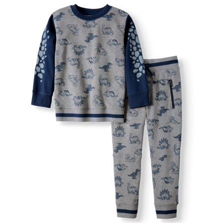 Fleece Dinosaur Outfit, 2-Piece Set (Little Boys & Big Boys) (Boys Superman Outfit)