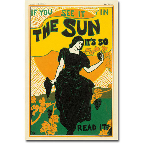 "Louis Rhead ""The Sun Newspaper, 1895"""
