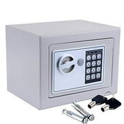 """Ktaxon 0.17 Cubic Feet 6.7"""" x 9"""" x 6.7"""" Safe Box, Electronic Security Lock Box Safes, for Home Office Hotel, Gray"""