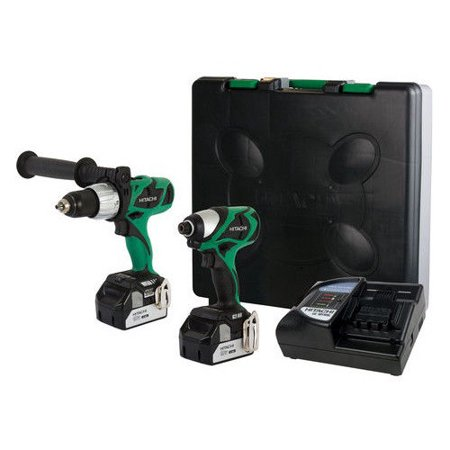 - Hitachi KC18DJL HXP 18V Cordless Lithium-Ion 1/2 in. Brushless Hammer Drill and Impact Driver Combo Kit