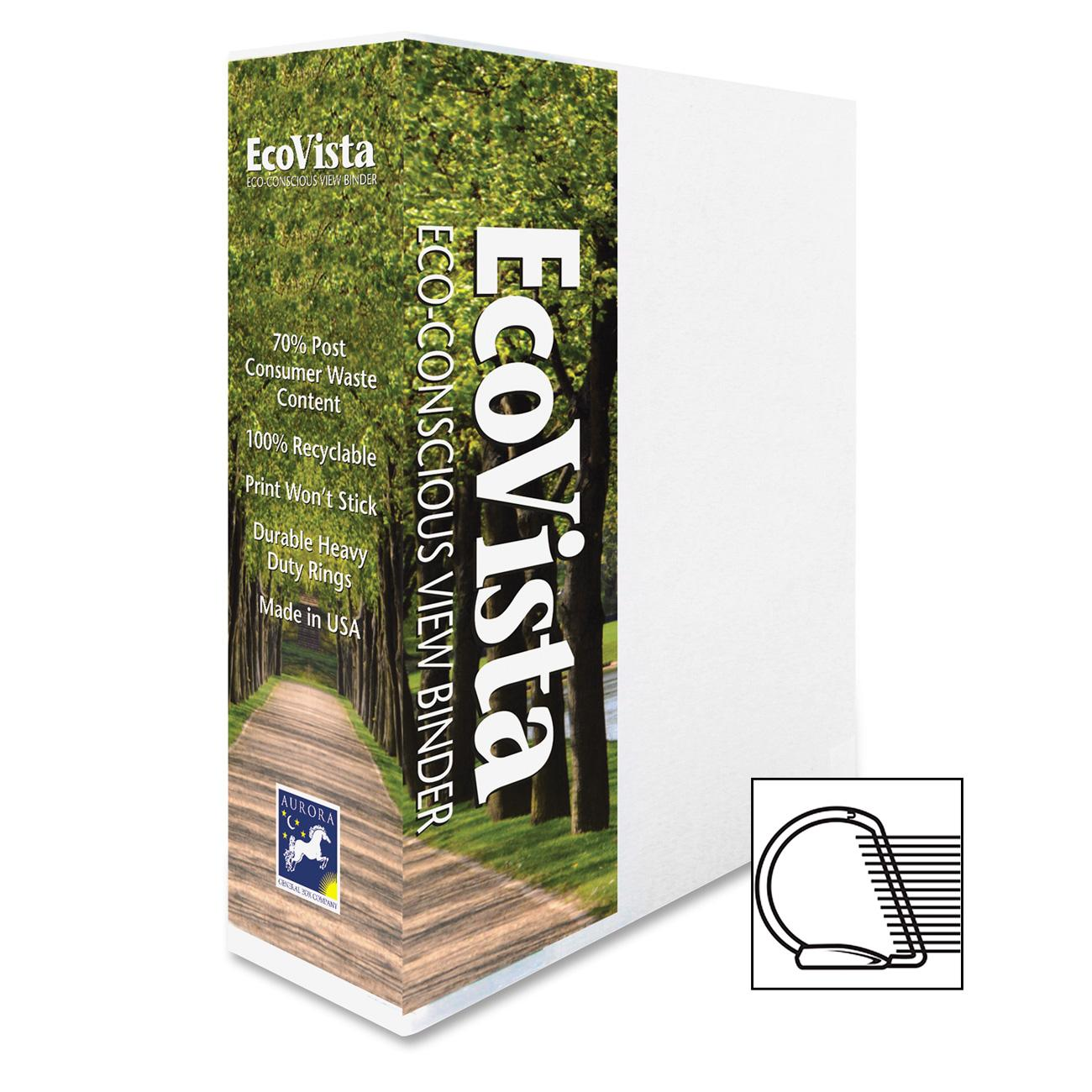 Aurora Products EcoVista D-Ring View Binders