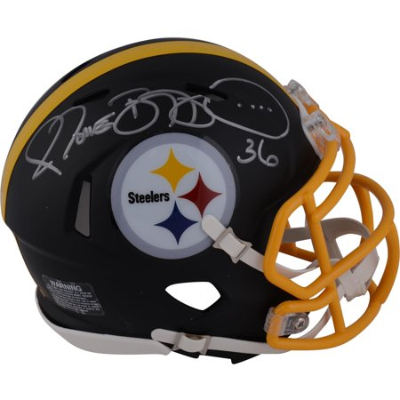 - Jerome Bettis Pittsburgh Steelers Autographed Riddell Black Matte Alternate Speed Mini Helmet - Fanatics Authentic Certified