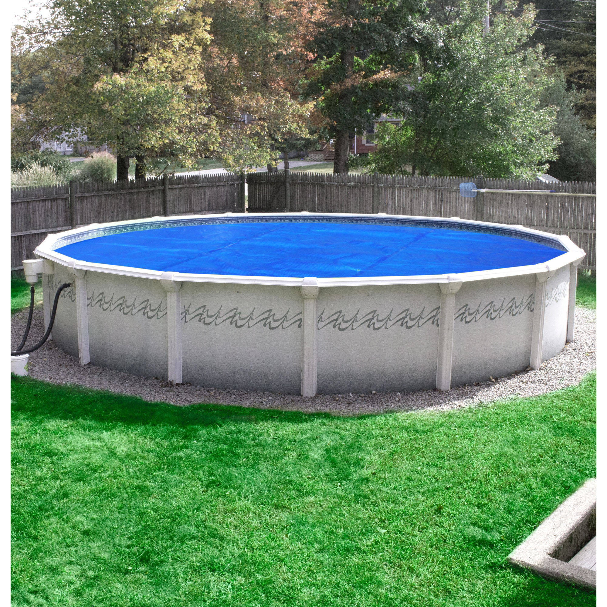 above ground pool solar covers. Pool Mate Deluxe 3-Year Blue Solar Blanket For Above Ground Swimming Pools - Walmart.com Covers