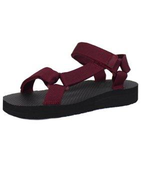 Kids Open Toe Slide Flat EVA Foam Hook and Loop Ankle Strap Sandal (Toddler To Big Kid, FREE SHIPPING)