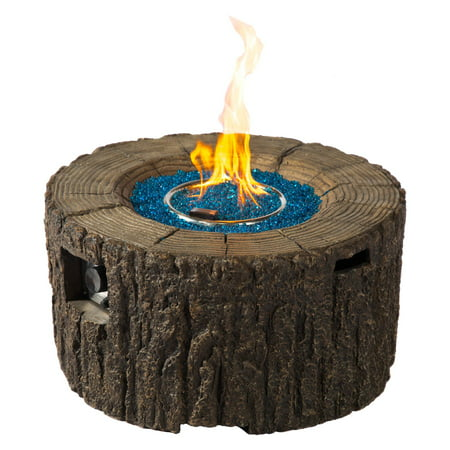 MGO Wood Stump Fire Pit