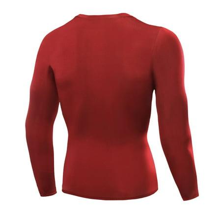 1PC Mens Compression Under Base Layer Top Long Sleeve Tights Sports Running T-shirts thumbnail