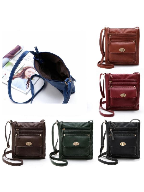 New Women Leather Messenger Bag Casual Travel Handbag Tote Satchel Cross body Shoulder Bag
